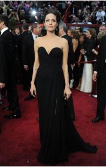 Black-Floor-Length-Sweetheart-angelina-jolie-Celebrity-Dresses-font-b-Faviana-b-font-Red-Carpet-font