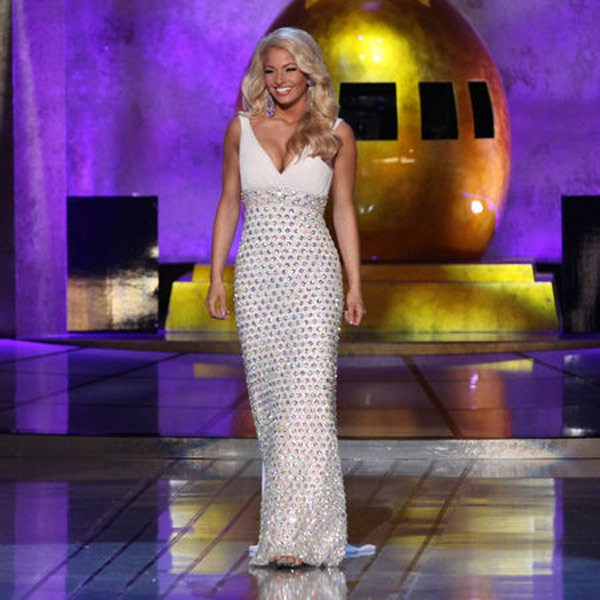 prom dress trends miss america 2015 - v-neck sequins