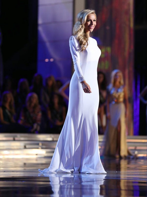 prom dress trends miss america- long sleeves