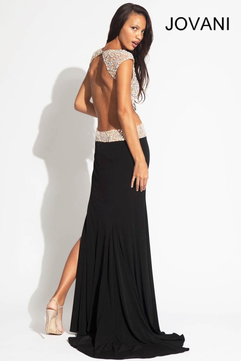jovani prom dress back