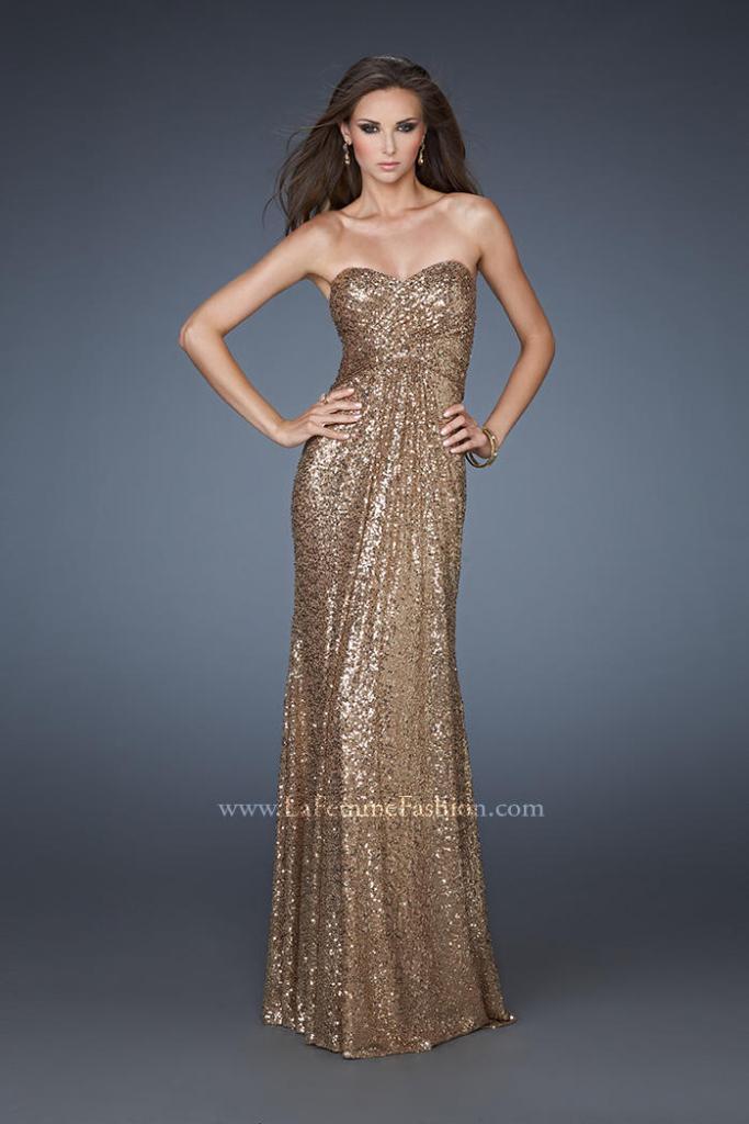 1 la femme sequined prom dress