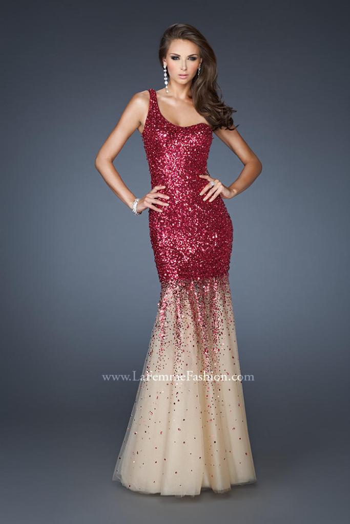 6- one shoulder mermaid prom dress