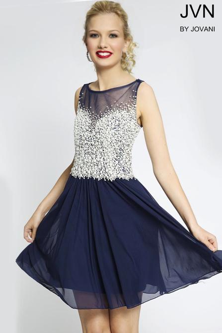 JVN jovani short prom dress