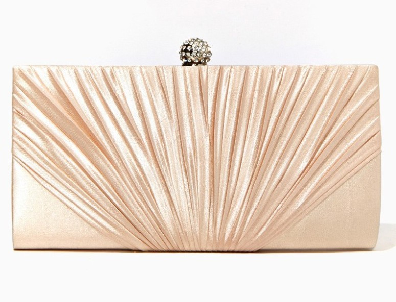 champagne satin clutch 3