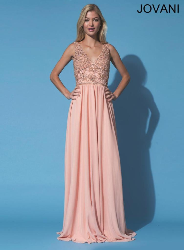 We love the simplicity of this feminine gown by Jovani.