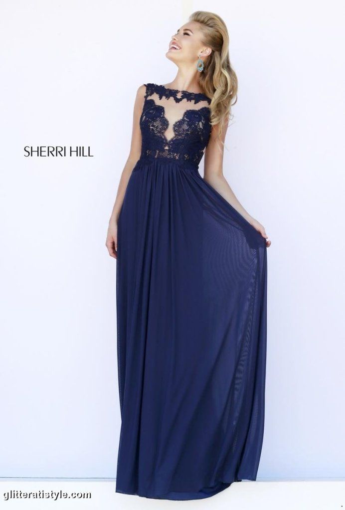 This sophisticated dress by Sherri Hill is under $300.
