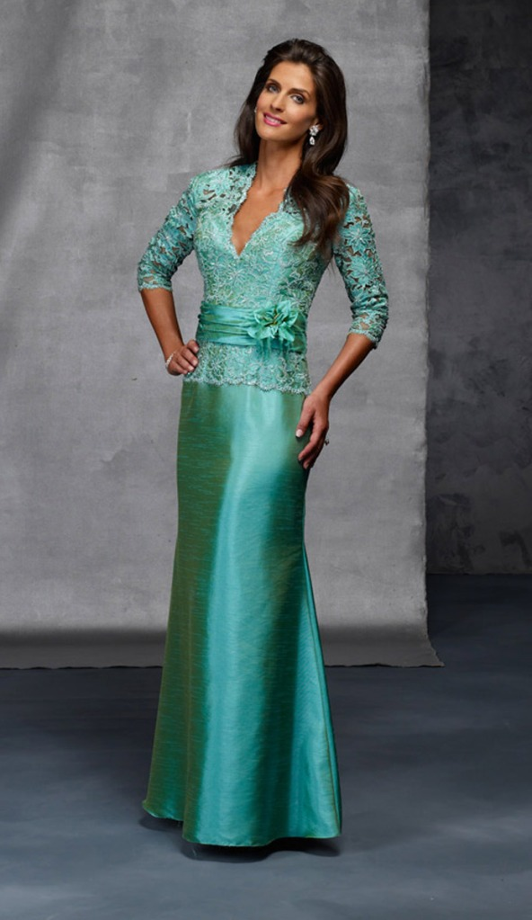 mother of the bride dress green